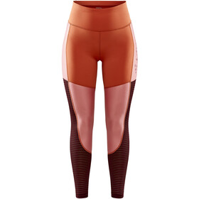 Craft ADV Charge Shiny Tights Women, terracot/truffle